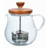HARIO ハリオ ティオール オリーブウッド 700ml TEO-70-OV お好みの濃さに ストレーナー 紅茶 ハーブ