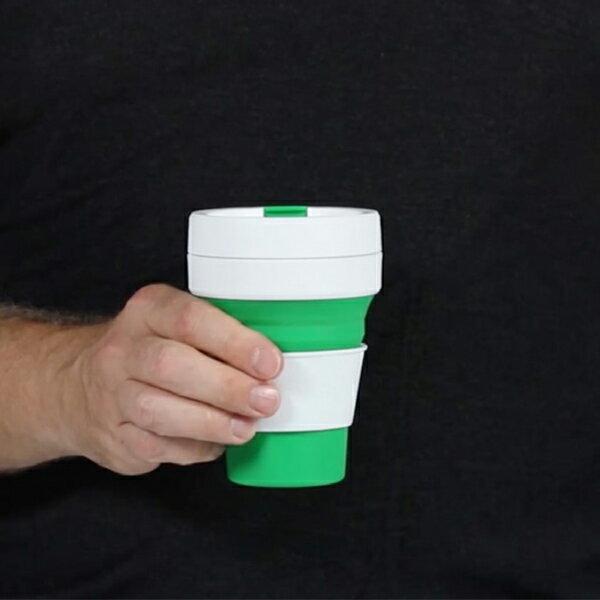 stojo(ストージョ)BIGGIE MINT 16oz/470ml / 折り畳みマイカップ マイタンブラービギー ポータブルカップ グランデサイズ対応 コーヒーカップ 水筒 持運び