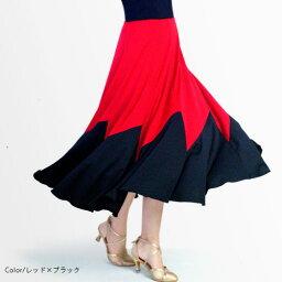 ダンススカート04 (ウエスト44〜58cm/丈75cm)【社交ダンス スカート かっこいい 可愛い 動きやすい シンプル 白 黒 ホワイト ブラック 練習着 レッスンウエア 日本製 初心者】