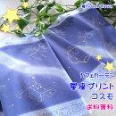 【送料無料】1000円ポッキリ!星座プリントのカフェカーテン