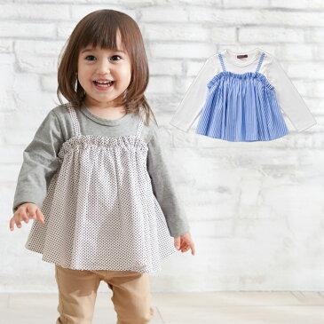 【20%OFF】【ベビー】 【studio mini】キャミレイヤード風Tシャツ 【ベビー 赤ちゃん ベビー服 女の子 おんなのこ ウェア ウエア トップス】