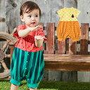 【10%OFFクーポン対象】【BITZ】なりきりフルーツロンパースベビー服 赤ちゃん 男の子 女の子 ロンパース かわいい 綿 エンジェリーベ 服