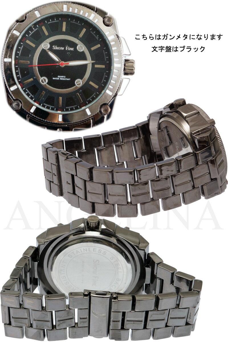 SHOWFINE男性用メンズ腕時計 ルフィーノ Mens ラグジュアリー メタルウォッチうでどけいアナログ電池式クォーツ 紳士 ヒップホップスポーティーインポートセレクトショップジュエリーウォッチDJ宝石ダンスジェイコブフランスイタリア