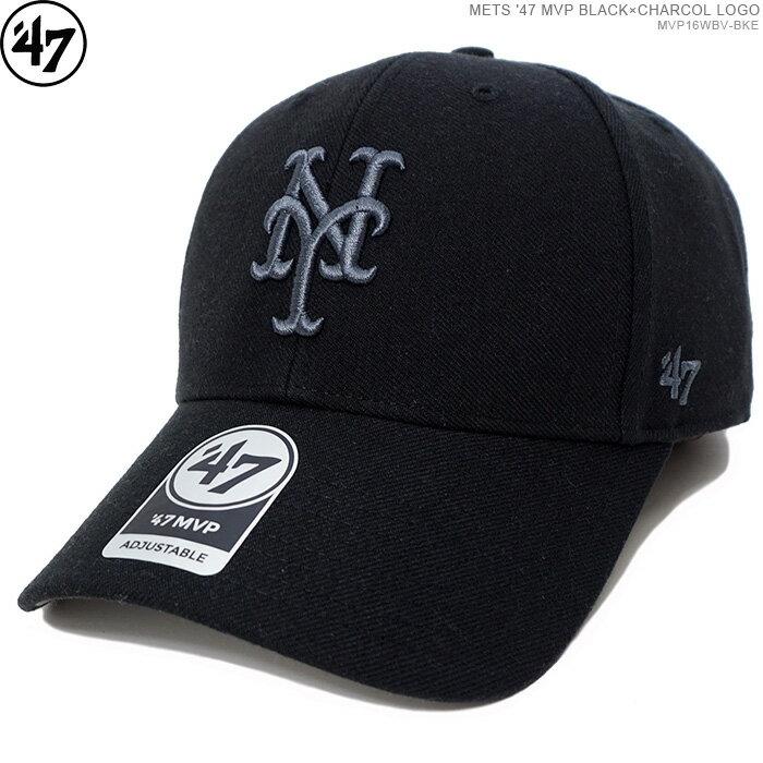 メンズ帽子, キャップ 47 2500 METS 47 MVP BLACKCHARCOL LOGO