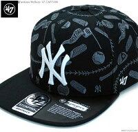 ニューヨークヤンキースキャップ/MLBキャップ/47Brandキャップ/47BRAND×McBess
