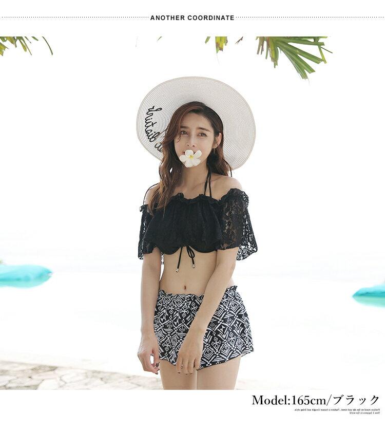 【あす楽/NEW/2017新作/送料無料】オフショル付ビキニ4点セット[74153]