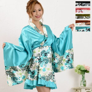 ☆ New ☆ Kimono dress Yukata Kimono dress Japanese pattern dress [Tomorrow] [Same day shipping] Paisley mini kimono dress Yosakoi [1021] Oiran, kimono dress, Japanese pattern dress, discount Japanese pattern kimono dress specialty store