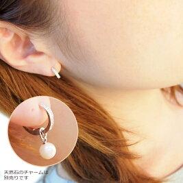K18WGダイヤモンドminiピアリング(0.10ct)【6/25まで耳たぶ5%OFF!ご注文確認後に金額修正】