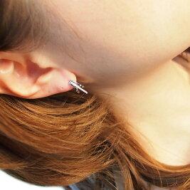 【3つ目(1番安い商品)半額セール♪】[K18WG][K18]ダイヤモンドスイングフープピアス(0.16ct)