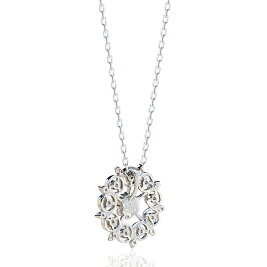 【3月2日まで!クーポンご利用で最大6000円OFF♪】[Pt900/Pt850][K18]ダイヤモンドネックレス(0.20ct)雪の結晶