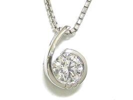 プラチナダイヤモンドプチネックレス一粒ダイヤ