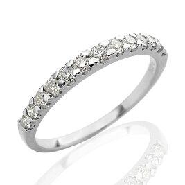 [Pt950][K18]ハートの爪で留めたH&Cダイヤモンドエタニティリング(0.3ct)H&Cカード鑑別書付