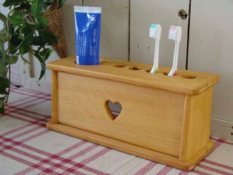 牙刷架心天然木制柏樹 5 牙刷架