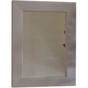 無塗装白木◇ひのきの木製細枠ナチュラルミラー◇鏡(23×30cm)