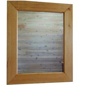 ナチュラル◇木製太枠ナチュラルミラー◇鏡(50×60cm)