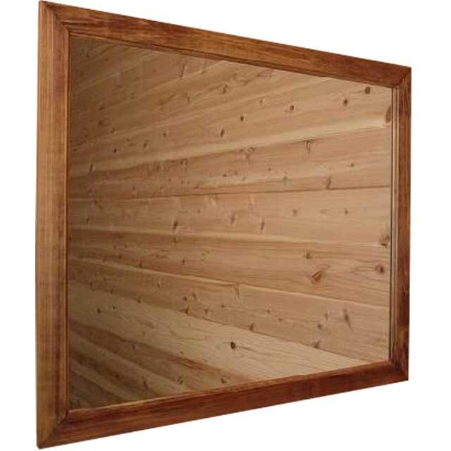 ミラー 横型 アンティークブラウン w70d2h60cm 吊り下げ金具 大型 木製 ひのき ハンドメイド オーダーメイド 1542638