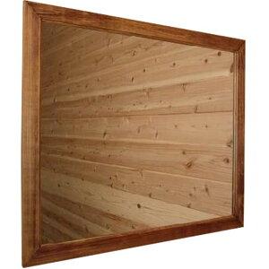 アンティークブラウン◇木製ナチュラルミラー◇横型タイプ◇(70×60cm)