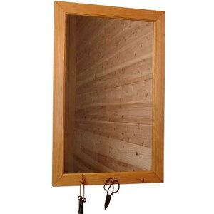 ナチュラル◇大きめ木製ナチュラルミラー◇ペグつき(45×70センチ)
