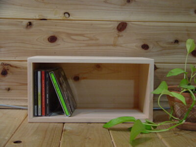 無塗装白木◇ディスプレイボックス(W33×D17×H17cm)CD収納DSゲームソフト収納