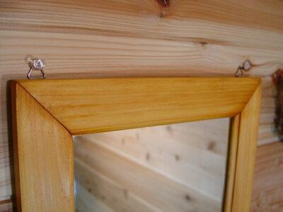 手作り木製ナチュラルミラー