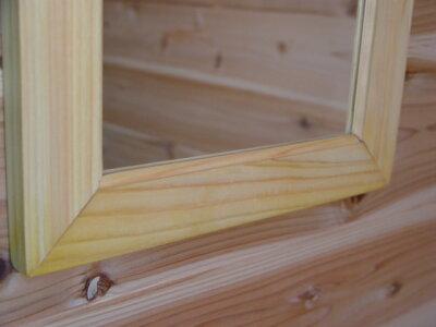 ライトオーク◇木製シンプルミラー