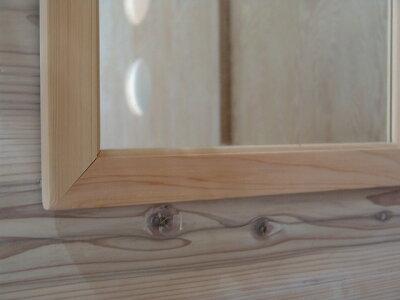 無塗装白木◇木製ミラー(40×60cm)