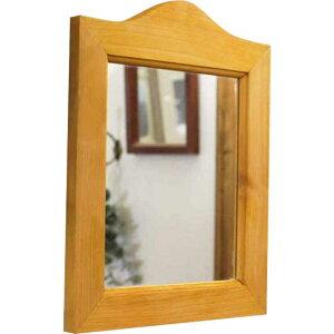 ミラー木製ひのきシンプルミラー壁掛けミラー28×35cmナチュラル