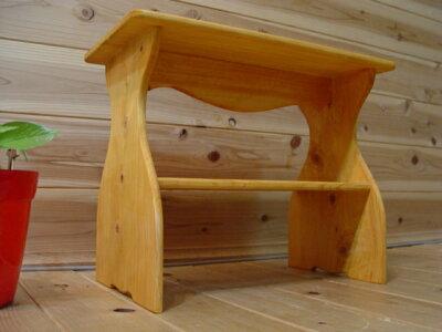 ナチュラルオーク◇木製カントリーミニベンチ◇下段収納タイプ玄関椅子