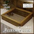 アクセサリーケース アンティーク調家具 ガラスケース コレクションケース 木製ひのき 38×35×10cm 傾斜タイプ つまみなし アンティークブラウン 受注製作