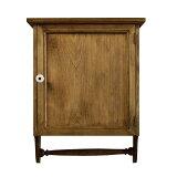 キャビネット 木製 ひのき 木製扉 タオルハンガー 壁掛け 背板つき 37×14×47cm アンティークブラウン オーダーメイド 1361898