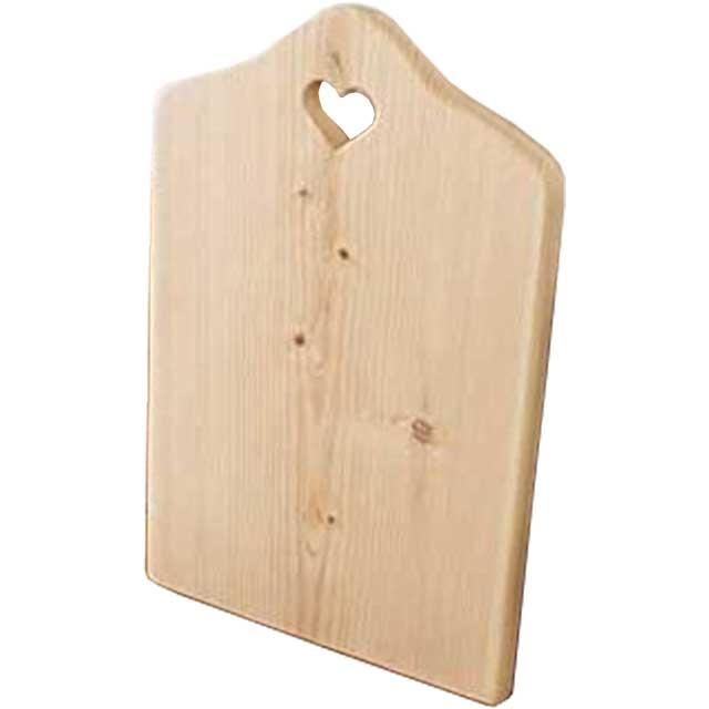 まな板 カッティングボード 厚み2センチ 無塗装白木 w25d2h38cm ハート チョッピングボード 木製 ひのき オーダーメイド 1509042