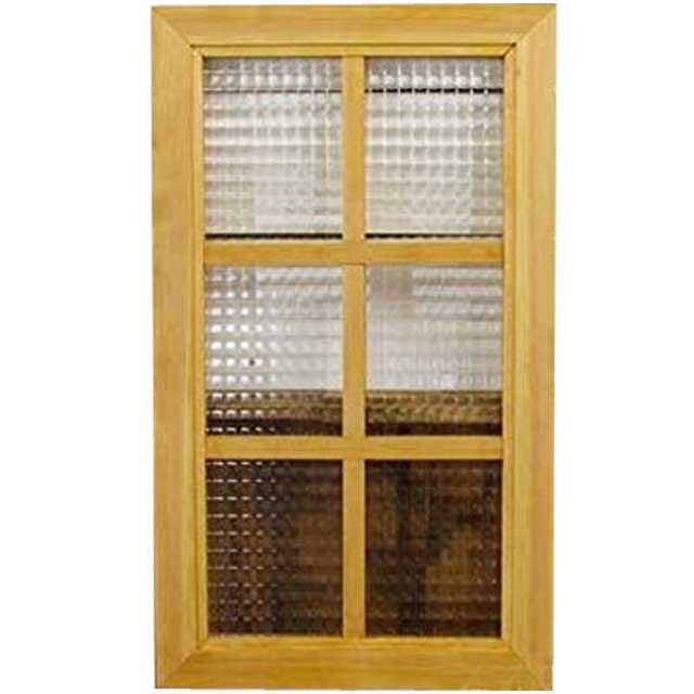 ガラスフレーム 木製 ひのき チェッカーガラス 両面仕様桟入り 35×60cm・厚み2.5cm 北欧 ナチュラル オーダーメイド 1542638