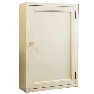 トイレットペーパーキャビネット木製ひのきアンティーク調家具木製扉背板つきニッチ用パンプキンノブ三段仕様40×15×60cmアンティークホワイト