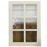 ガラスフレーム 木製 ひのき フローラガラス 片面桟入りガラス窓 35×2×50cm 北欧 アンティークホワイト オーダーメイド 1134626
