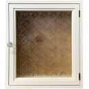 インターホンカバーフローラガラスアンティークホワイト30.5×9×34.5cmパンプキンノブ木製ひのきハンドメイドオーダーメイド