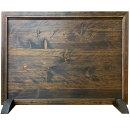 フレーム&スタンドセットダークブラウン75×2×55cm入れ替えが出来る木製ひのきハンドメイドオーダーメイド