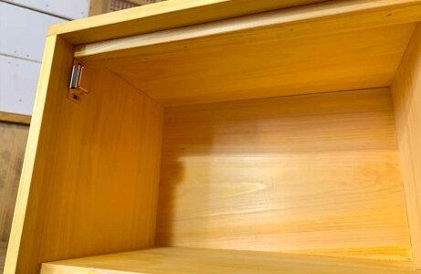 ブレッドケースチェッカーガラスナチュラル30x23x21cmパンプキンノブ横型木製ひのきハンドメイド受注製作