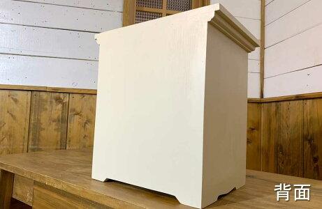 ペットのおぶつだん木製扉木製取手アンティークホワイトw30d22h32cmハンドメイド木製ひのきオーダーメイド1134626