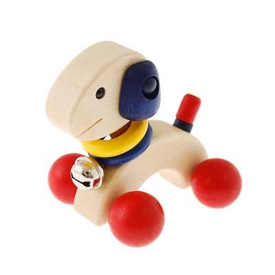 可愛い木製玩具・木のおもちゃ首としっぽが動くかわいい犬の車 パピー【RCP】
