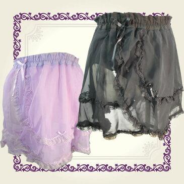 バレエ 巻きスカート風ウエストゴムMLブラックのみバレエ スカート 子供