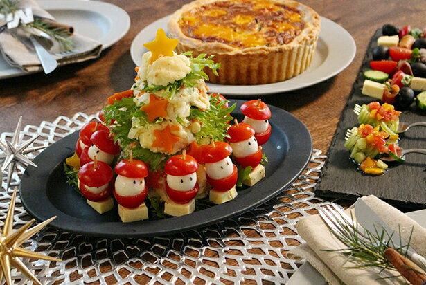 【もうすぐクリスマス3】食卓を彩る前菜〜Xmasピンチョス&サンタのポテサラツリー