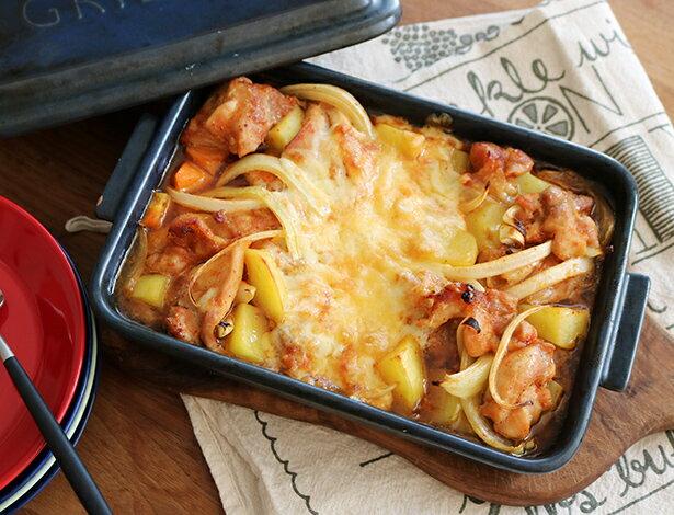 話題のレシピをグリラーで作ろう!ちょっと小ぶりな「チーズタッカルビ」