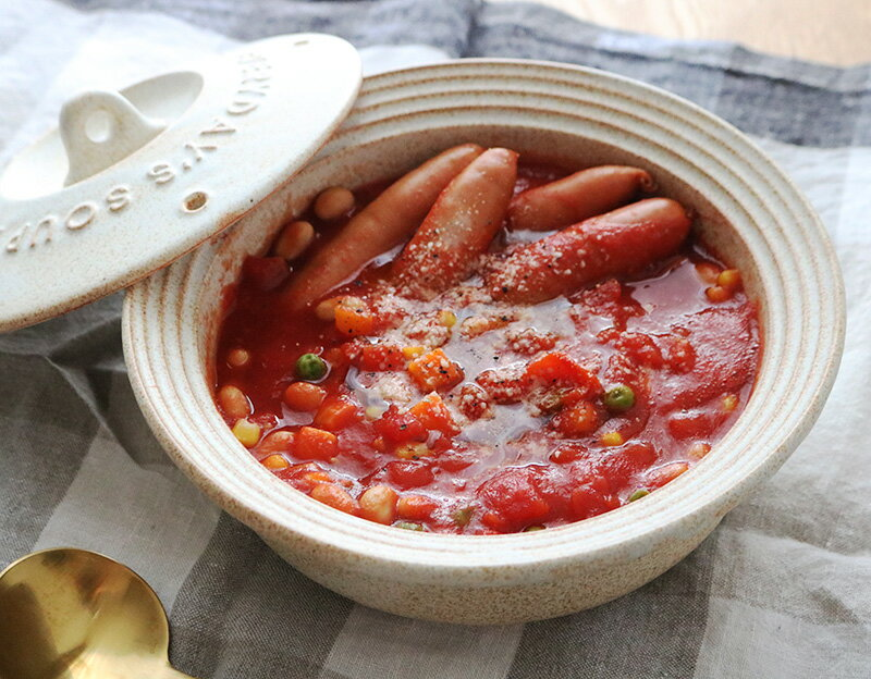 手軽に美味しく野菜補給!〜冷凍野菜&レンジで作る「ミネストローネ」