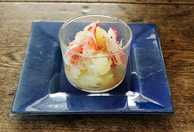【ボデガカップで作る前菜5種】カニカマとグレープフルーツのサラダ