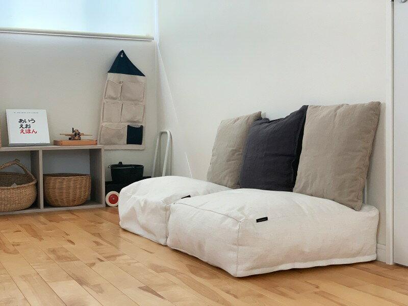 出し入れ簡単!掛け布団収納ケース。シーズンオフの布団が子供部屋のソファに変身。