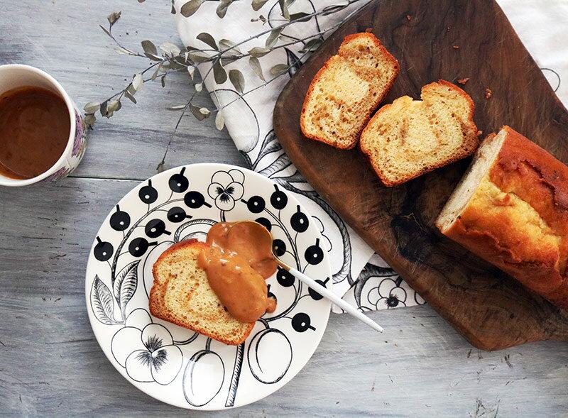 にしきやパンケーキミックスで作る「キャラメルパウンドケーキ」