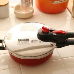 セラミック加工/圧力なべ/なべ/圧力/鍋 カラー圧力鍋 セラミック加工 IH対応 3.0リットル ...