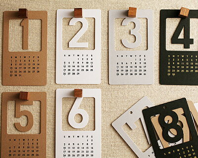 カレンダー/ステーショナリー/文具/新年 /アンジェ2012年 ナンバーカレンダー