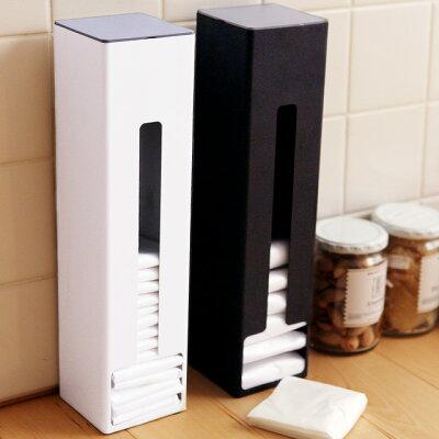 マグネット付きで冷蔵庫にも取り付けられる!modesのポリ袋ストッカー