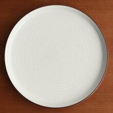 白磁千段(はくじせんだん) 6号 平皿